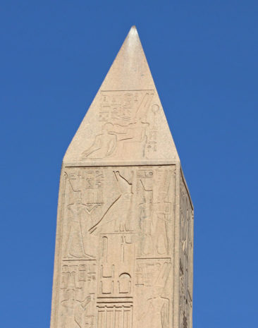 Top of the Obelisk at the Temple of Karnak