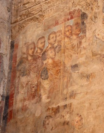 Coptic Christian painting in Luxor Temple