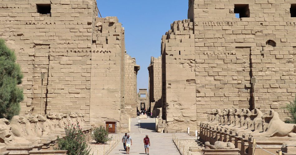 The Temple of Karnak, Egypt