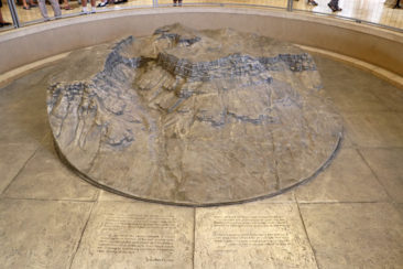 A model showing the topography of Masada