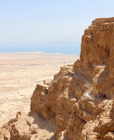 The cliffs of Masada
