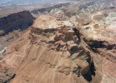 Aerial view of Masada (Source: Wikipedia/Government Press Office Israel)