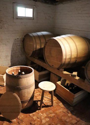 Wine cellar at Monticello