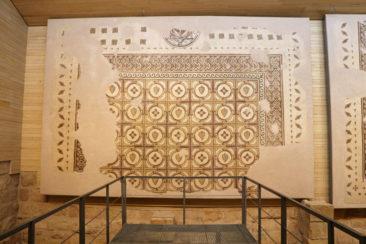 Excavations inside the Mount Nebo Byzantine church