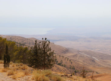 The view of the Dead Sea from Mount Nebo