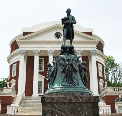 Jefferson statue at UVA