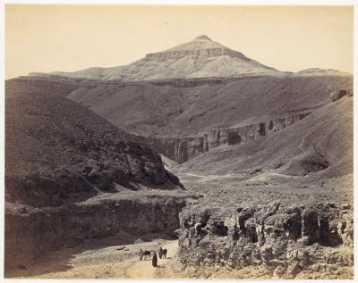 Valley of the Kings photo from 1857 (Credit: Wikipedia)