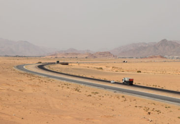 Roads near Wadi Rum