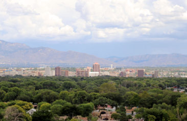 Albuquerque skyline from Pat Hurley Park