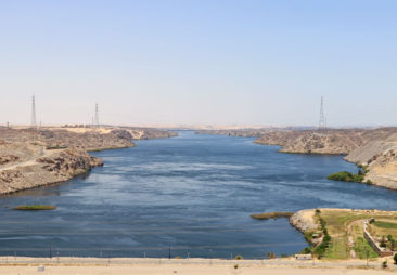 The view from Aswan Dam