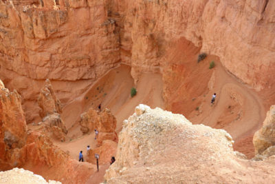 Hiking trail at Bryce Canyon National Park