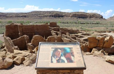 Chaco Culture Information Sign