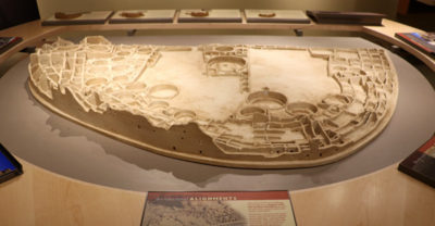 Chaco Canyon Visitor Center model