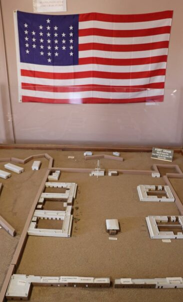 Model of the original layout of Fort Craig