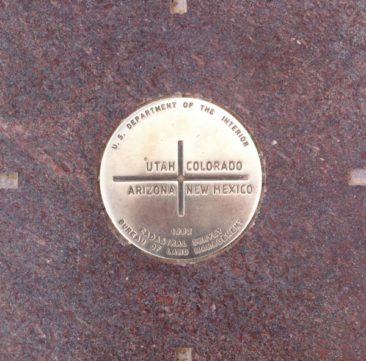 The Four Corners Monument stone