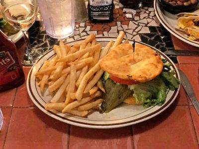 Frybread Hatch Chile Burger at Church Street Cafe