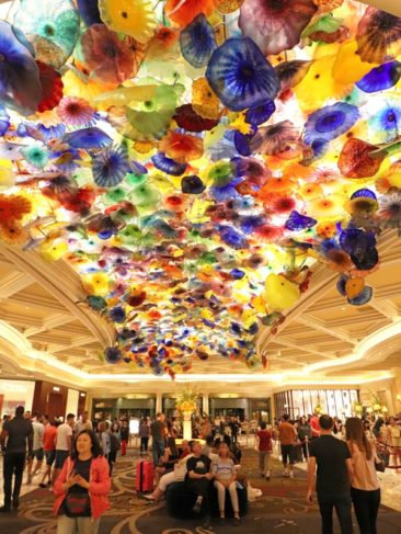 Dale Chihuly Glass Sculpture at Bellagio Las Vegas