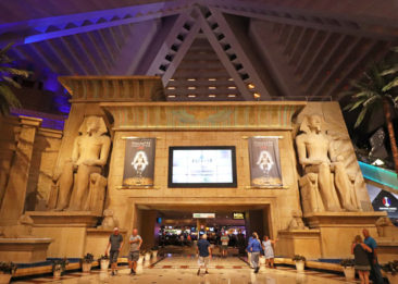 Interior of the Luxor Hotel & Casino in Las Vegas