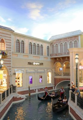 The Gondola rides inside the Venetian in Las Vegas