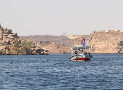 The boat to Philae Temple