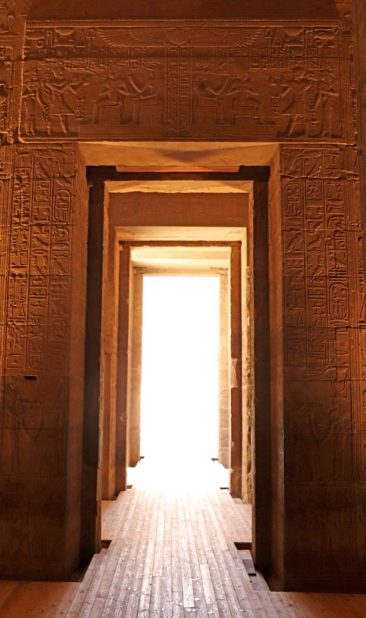 Entrance to the inner chamber of Philae Temple in Egypt