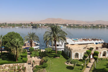 The view of the Nile from our Hotel in Luxor