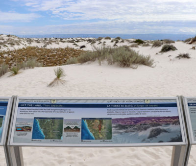 Information spot at White Sands National Monument