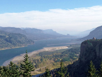 Columbia River Gorge Vista House (on the right)