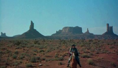 Monument Valley as seen in the 1956 movie 'The Searchers' Photo via Wikipedia