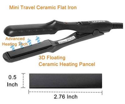 Mini Portable Flat Iron Hair Straightener