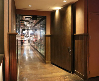 You'll find Secret Pizza down this unassuming, normal-looking hallway. No signs.