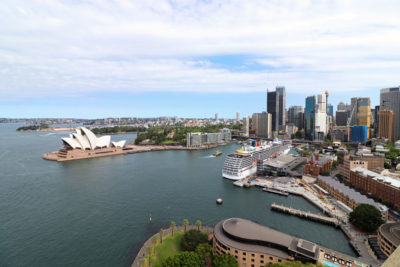 View from the Sydney Harbour Bridge Pylon