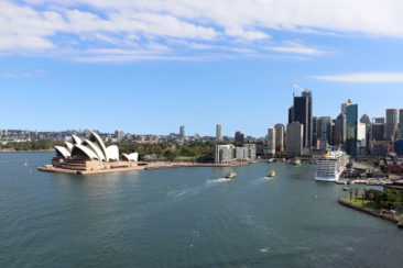 View from the Sydney Harbour Bridge