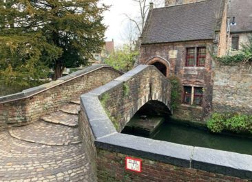 Bonifacius Bridge in Bruges, Belgium