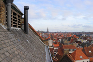 View from the top of De Halve Maan Brewery