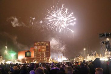 New Year's Eve Fireworks in Bruges