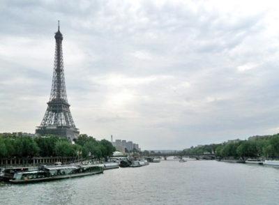 Paris just before dusk