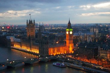 Big Ben as seen from the London Eye