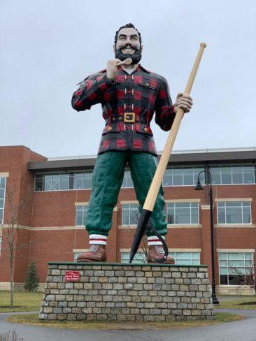 Paul Bunyon Statue in Bangor, Maine