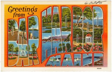 Bar Harbor Postcard from 1940 (Photo via Wikipedia)