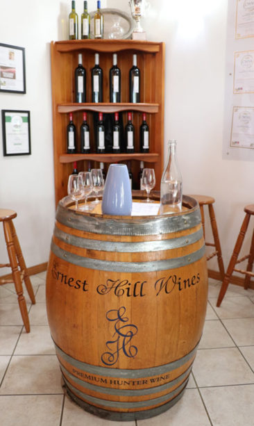 Ernest Hill Wines in the Hunter Valley