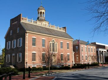 The Old State House in Dover, Delaware