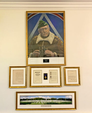 General Patton display in the Luxembourg American Cemetery