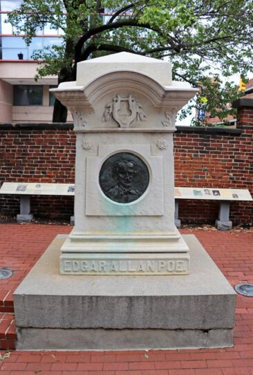Edgar Allan Poe's Grave in Baltimore