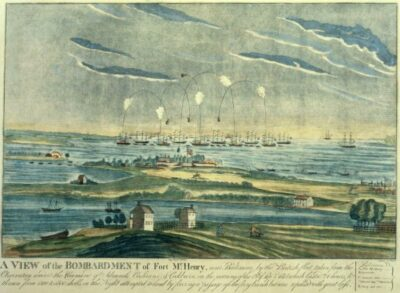 The Bombardment of Fort McHenry (Image Source: Wikipedia)