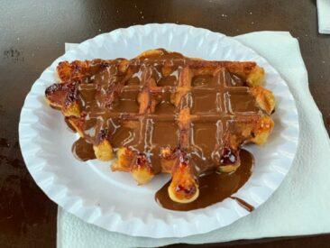 Belgian waffle with Belgian chocolate!