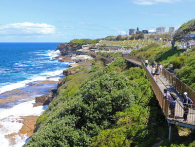 The walk towards Waverley Cemetery
