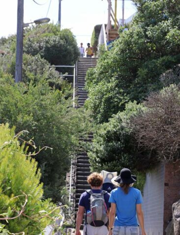 Steep stairs near Gordons Bay on the Bondi to Coogee Coastal Walk