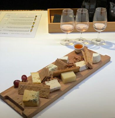 Wine and cheese samples in Auckland