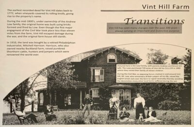 Vint Hill Farms circa mid-1800s